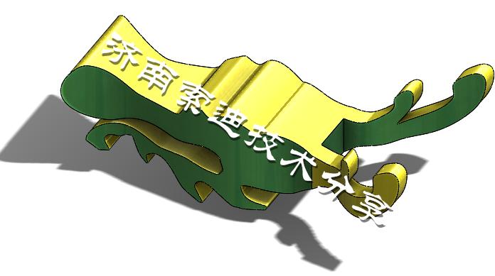 绿色舞龙头的矢量图